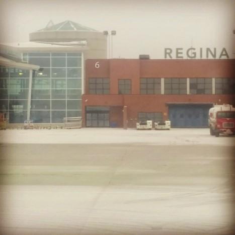 Landing in Regina, SK