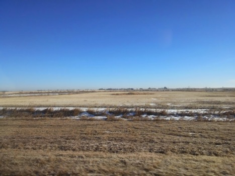 Flat lands as far as the eye can see
